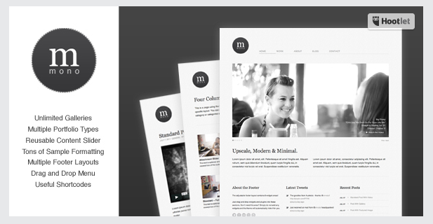 Free WordPress Theme: Cudazi Mono